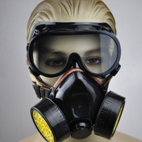 Double Gas Mask Chemical Gas Respirator Face Mask