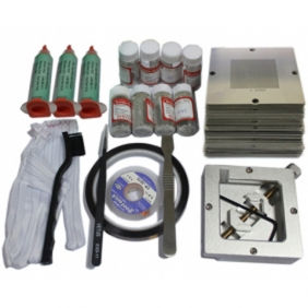 BGA Reballing Kit - 230pcs 90 x 90mm BGA Stencils + 90x90 BGA Reballing Station + Other BGA Accessories