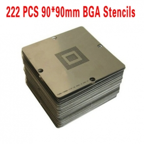 BGA Reballing Stencil Kit 90x90mm for Laptop Xbox360 Wii PS3 222PCS