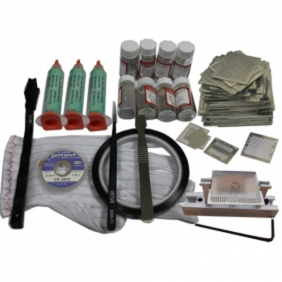 BGA Reballing Kit: 295pcs Heat Direct Stencil Kit + Reballing Jig + Other BGA Accessories