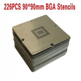 BGA Reballing Stencil Kit Full for Laptop, Xbox360, PS3 and Wii 226PCS 90x90mm