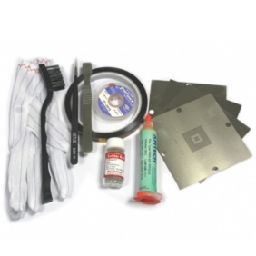 Xbox 360 Reballing Kit: 4pcs 90x90mm XBOX 360 BGA Stencils + Solder Ball + Desoldering Braid+Other BGA Accessories