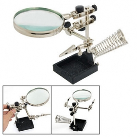 3  in 1 Rework Tool with Magnifier, Soldering Iron Stand & Clamp