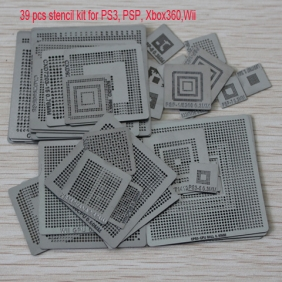 Latest 39pcs Heat Direct Video Game Console Stencil Kit