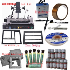 Full Set BGA Rework Station ACHI IR PRO SC with 90*90mm BGA Stencils+Transformer