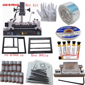 Full Set ACHI IR-PRO-SC/ACHI IR PRO SC Infrared BGA Rework Station with Heat Direct BGA Stencils
