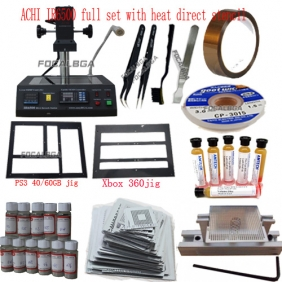 Full Set ACHI IR6500/IR-6500 Infrared BGA Rework Station+Heat Direct BGA Stencils