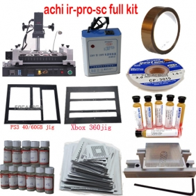Full Set BGA Rework Station ACHI IR-PRO-SC/ACHI IR PRO SC with Heat Direct BGA Stencils+Transformer